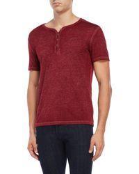 William Rast - Short Sleeve V-neck Henley Shirt - Lyst