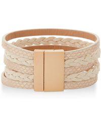 pannee by panacea White Multi-strand Cuff Bracelet - Multicolor