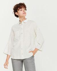 Le Mont St Michel Checked Pocket Shirt - White