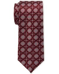 Isaac Mizrahi New York - Black & Red Neat Medallion Silk Tie - Lyst