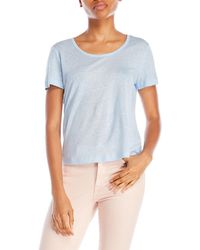 Slate & Stone - Light Blue Aubrey Tee - Lyst
