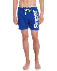 Superdry - Logo State Volley Swim Shorts - Lyst