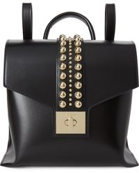 Valentino By Mario Valentino - Black Olivier Studded Leather Backpack - Lyst