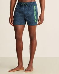 Superdry Camo Poolside Swim Shorts - Blue