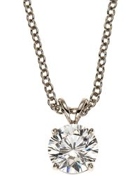 Fantasia by Deserio - 14K White Gold-Plated Necklace & Cubic Zirconia Pendant - Lyst