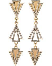 Lulu Frost - Gold-tone Odeon Triple Earrings - Lyst