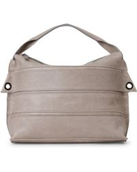 Malloni - Horizontal Straps Leather Top Handle Bag - Lyst