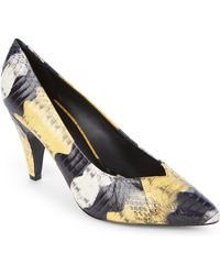 Sandro - Audry Snake-effect Pointed Toe Pumps - Lyst