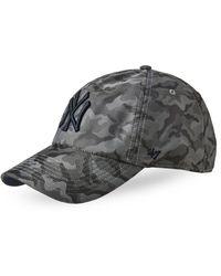 47 Brand - Camo New York Yankees Clean Up Cap - Lyst