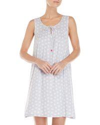 Ellen Tracy - Sleeveless Printed Nightgown - Lyst
