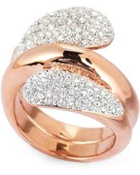 Swarovski - Rose Gold-tone Every Wide Ring - Lyst