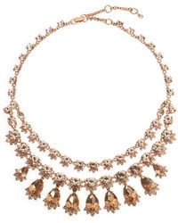 Givenchy - Rose Gold-Tone Collar Necklace - Lyst