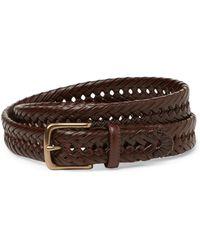 Tommy Hilfiger Brown Laced Basketweave Belt