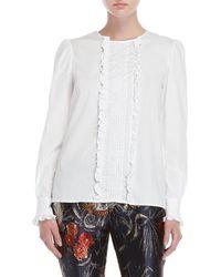 P.A.R.O.S.H. - White Ruffled Shirt - Lyst