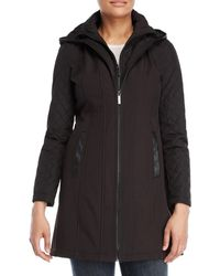 MICHAEL Michael Kors - Quilted Sleeve Softshell Coat - Lyst
