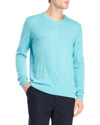 Forte - Cashmere Double-trimmed V-neck Sweater - Lyst