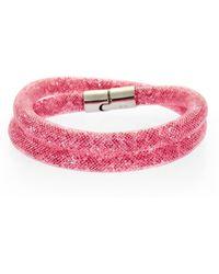 Swarovski - Stardust Double Wrap Bracelet - Lyst