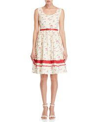 Yumi' - Beach Belted Fit & Flare Dress - Lyst