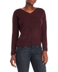Pink Rose - Solid V-neck Sweater - Lyst