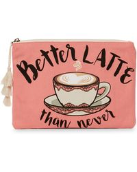 Twig & Arrow - Better Latte Than Never Pouch - Lyst