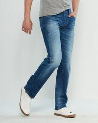 d65386e9 DIESEL Larkee 0854a Distressed Denim Jeans in Black for Men - Lyst