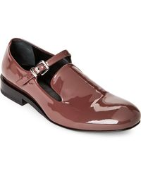 Jil Sander | Wine Patent Leather Buckle Loafers | Lyst