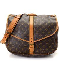 121bb0529005 Louis Vuitton - Monogram Saumur 35 Messenger Bag - Vintage - Lyst