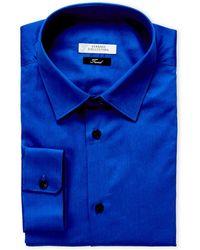 Versace - Klein Blue Trend Fit Dress Shirt - Lyst