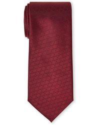 Calvin Klein Burgundy Diamond Silk Tie - Purple