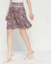 Max Studio Printed Jersey Tulip Skirt - Multicolor