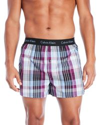 CALVIN KLEIN 205W39NYC - Woven Slim Fit Boxers - Lyst
