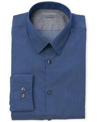 CALVIN KLEIN 205W39NYC - Blue Extreme Slim Fit Dress Shirt - Lyst