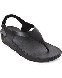 Fitflop - Black Skylar Thong Sandals - Lyst