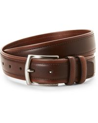 Nautica Brown Tubular Overlay Belt