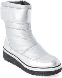 Calvin Klein - Silver Leonie Nylon Wedge Boots - Lyst