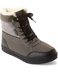 Nautica - Grey Lockview Fleece-lined Boots - Lyst