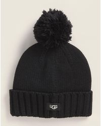 UGG Cuffed Pom Hat - Black