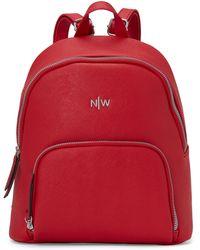 Nine West Dark Lipstick Red Floret Backpack