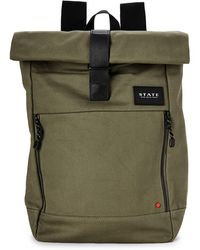 State Olive Colby Laptop Roll-top Backpack - Green