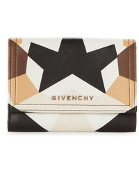 Givenchy - Printed Leather Bi-fold Wallet - Lyst