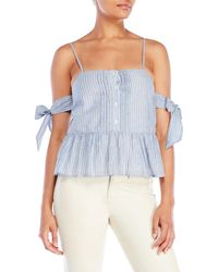 La Maison Talulah - Cetara Stripe Cold Shoulder Top - Lyst