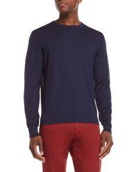 Luciano Barbera - Navy Diamond Patten Sweater - Lyst