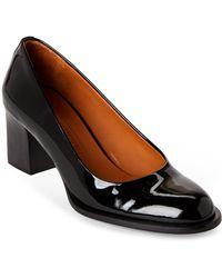 Veronique Branquinho - Black Patent Leather Block Heel Pumps - Lyst