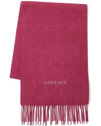 Versace - Logo Wool Scarf - Lyst