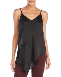 Re:named - Satin Asymmetrical Camisole - Lyst