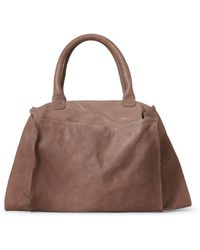 Malloni 2-In-1 Leather Convertibel Satchel - Brown