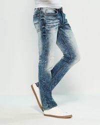 Buffalo David Bitton Ash-x Basic Slim Stretch Jeans - Blue