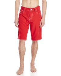 True Religion - Flap Pocket Board Shorts - Lyst
