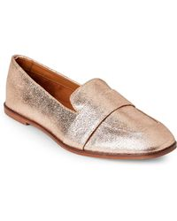 Kenneth Cole Reaction - Rose Gold Glide Slide Metallic Leather Loafers - Lyst
