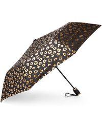 Bebe Auto Open Metallic Cheetah Umbrella - Multicolor